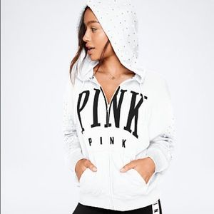 Victoria's Secret rhinestone bling hoodie
